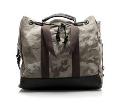 #Camouflage - printed canvas travel bag by @Dolce & Gabbana