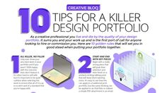 This handy infographic reveals the 10 golden rules for putting your design portfolio together.