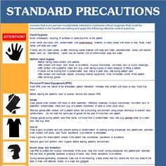 The Center for Disease Control and Prevention (CDC) is a great resource for standards dealing with hospitals, clinics, medical schools and other...