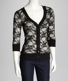 Another great find on #zulily! Zenana Black Lace Cardigan by Zenana #zulilyfinds