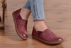 Oxford Leather Shoes for Women, Flat Shoes,Casual Shoes, Slip Ons, Woman Shoes