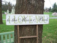 I Love You To The Moon and Back Crackled by primsnposies on Etsy
