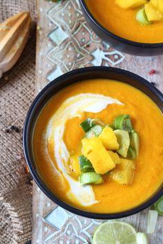 Fruchtige Karottensuppe mit Mango-Salsa | Süß oder Salzig