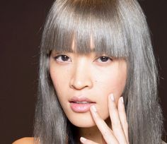 The hair trend of 2015, granny hair. Are you in ?! #hairinspiration, grey, hair, granny, froufrou, pony