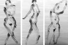 3 quick gestures in charcoal, Joel Armstrong © 2012