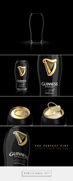 The GUINNESS Perfect Pint Concept designed by Davi Costa - http://www.packagingoftheworld.com/2015/11/the-perfect-pint-concept.html
