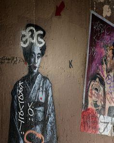 "Geisha Paris Graffiti Wall Art Paris Art Print Urban Art Street Art Extra Large Wall Art Whimsical Eclectic Modern Wall Decor. Geisha Graffiti, Paris France, Fine Art Photograph.Graffiti Art, Paris France, Fine Art Photograph. Modern Eclectic Wall Decor. SIZES: 8"" x 10"" - 11"" x 14"" - 16"" x 20"" - 24"" x 30"" - 32"" x 40"" - 60"" x 48"" (Click ""Select Options"" menu to choose). Orientation: Vertical Printed on Premium archival acid-free 100% Cotton Heat-Pressed Matte Fine Art Paper with archival..."