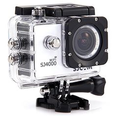 SJCAM Original SJ4000 WiFi Action Camera 12MP 1080P H.264 1.5 Inch 170 degree Wide Angle Lens Waterproof Diving HD Camcorder Car DVR (White) #SJCAM