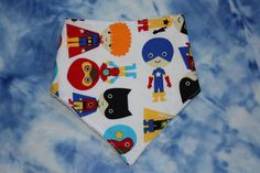 Superhero Bandana dribble bib drool bib UK seller by SewBitsy, £4.00
