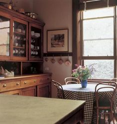 Antique kitchen dresser in corner of kitchen Kitchen Dresser, Wrought Iron Gates, Hearth And Home, China Cabinet, Designing Women, Country Charm, Country Style, Interior Design, Architecture