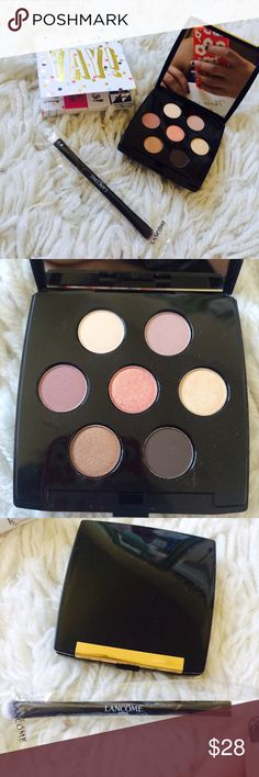 Lancôme Eye Shadow Pallet and Double Sided Brush! Lancôme Eye Shadow Pallet and Double Sided Brush! 7 colors of eye shadow and the brush has two sides for application. Brand new, never been used!! Lancome Makeup Eyeshadow
