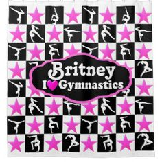 PINK GYMNAST STAR PERSONALIZED SHOWER CURTAIN Enjoy the best selection of Gymnastics Home Decor from Zazzle. 40% Off Magnets, Stickers & More   15% Off Sitewide Use Code: STUCKONYOU40 http://www.zazzle.com/mysportsstar/gifts?cg=196751399353624165&rf=238246180177746410   #Gymnastics #Gymnast #WomensGymnastics #Gymnastgift #Lovegymnastics