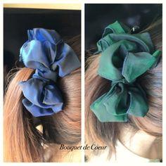 ハンドメイドバナナクリップ ネイビーとカーキの秋色♪ Handmade hair accessory!! Banana clip!! Navy and green