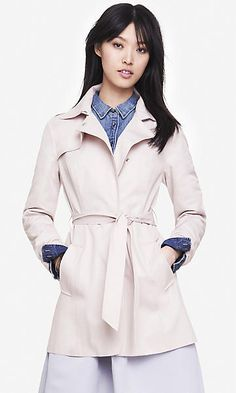 FIT AND FLARE TRENCH COAT