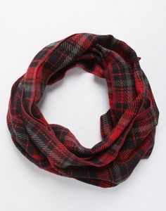 Checkered Thin Scarf - Red Scarf - Plaid Scarf – Accessories – 2020AVE #2020AVEXFALL