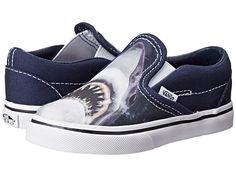 Vans Kids Classic Slip-On (Toddler) (Bone Dance) Black/Black - Zappos.com Free Shipping BOTH Ways