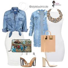 Dope Fashion, Denim Fashion, Fashion Outfits, Fashion Shoes, Style Casual, My Style, Casual Date Nights, Jean Jacket Outfits, Popular Handbags