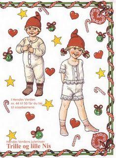 Christmas paper dolls- nostalgic