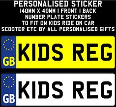 #PopularKidsToys Just Added In New Toys In Store!Read The Full Description & Reviews Here - PERSONALISED NAME STICKER 140MM x 40MM Number Plate Stickers For Kids Ride on Car Bike Bedroom Doors by All Personalised Gifts (PLEASE LEAVE GIFT MESSAGE WITH NAME YOU REQUIRE IF NO NAME IS SENT THEY WILL BE DISPATCHED BLANK) -  		 			#gallery-1  				margin: auto; 			 			#gallery-1 .gallery-item  				float: left; 				margin-top: 10px; 				text-align: center; 				width: 33%; 			 			#gal