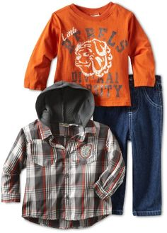 Little Rebels Boys 2-7 3 Piece Rebels Pant Set: Amazon.com: Clothing