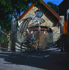 Dragon Gate at Harlech House, Dublin, Ireland.  The house was designed and constructed in 1798 by a Welsh immigrant.