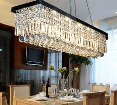 40-034-Rectangle-Crystal-Pendant-Light-Ceiling-Lamp-Dining-Room-Chandelier-Lighting