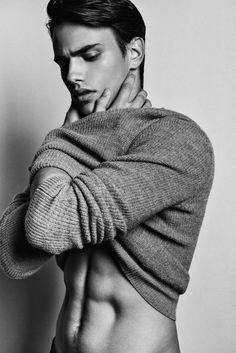 Sergio Carvajal Poses for Fernando Gómez. I love the look of those abdominals.