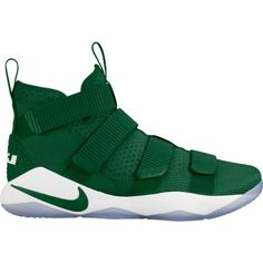 official photos 4bde0 4fe7e Nike Men s Zoom LeBron Soldier XI Basketball Shoes, Gorge Green White Green  Basketball Shoes