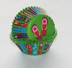 24 Flip Flop Cupcake Liners Summer Cupcake by LuxePartySupply