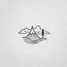 Mountain doodle
