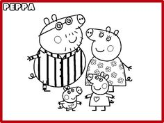 desenho de A fam lia de Peppa Pig