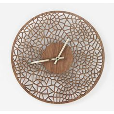 Laser cut voronoi cell wall clock