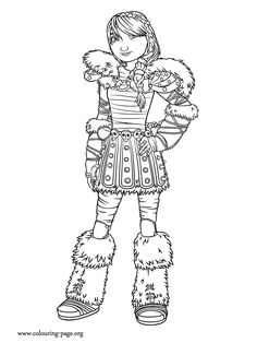Astrid is beautiful and Hiccup's love. She is a main character in the upcoming movie How to Train Your Dragon 2. Have fun with this awesome coloring page!