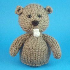 Beaver Toy Knitting Pattern PDF by Jellybum on Etsy, $3.50
