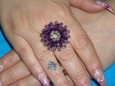 anello in swarovski di colore viola!!