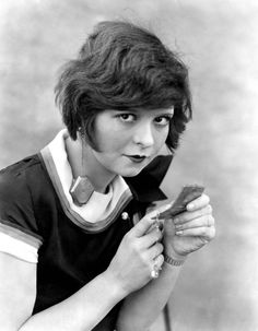 """Clara Bow actress of film """" Wings"""" She said:""""We have individuality. We do as we pleased"""""""