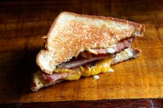 Use that leftover ham to make Honey Mustard & Ham Grilled Cheese!