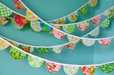 Jessie's scalloped fabric garland from vintage sheets
