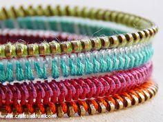 Riciclo Creativo - Craft and Fun: Riciclo Creativo Cerniere Lampo: Braccialetti Colorati