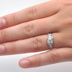 Leigh Jay Nacht Inc. - Replica Art Deco Engagement ring - 2252-02