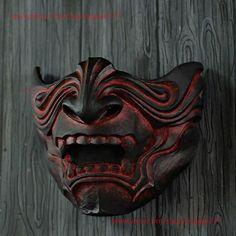 Half Face Samurai Mask Oni Mempo Armor Japanese Noh for image 2 Maori Face Tattoo, Samoan Tattoo, Polynesian Tattoos, Tattoo Arm, Hand Tattoos, Samurai Mask Tattoo, Cool Masks, Creepy Masks, Japanese Tattoo Artist