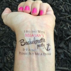 Nautical Buy Me a Drink Temporary Tattoo
