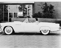 Ford Thunderbird Automobile 1955 8x10 Reprint Of Cars Old Photo
