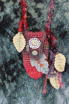 Owl wisdom Amulet Bag  Medicine bag  Treasure by RavenshiresRealm
