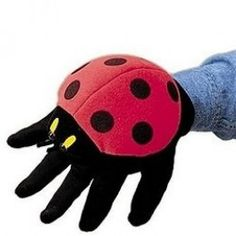 Puppets are great fun, and can encourage children to use their imagination. This cute Ladybug hand puppet can be worn on either hand. Don't like ladybugs? Bee, butterflies, bumblebee, grasshopper, mouse and monkey glove puppets are also available.