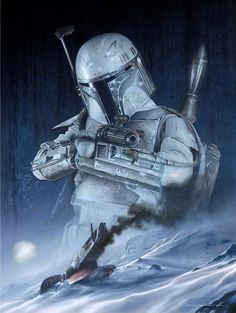 Most feared bounty hunter in the galaxy. #Starwars