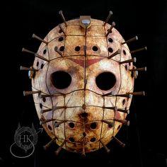 Jason Voorhees / Pinhead Mashup Mask - Berserker by HauntedKnoll.deviantart.com on @DeviantArt