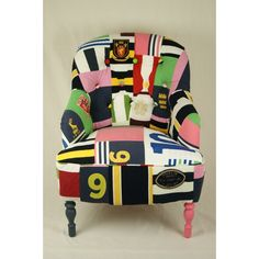 Kelly Swallow makes patchwork modern vintage chairs that are a true joy to look at and must be even a greater joy to own. Her Matt Black Vintage Grand Funky Chairs, Colorful Chairs, Vintage Chairs, Kids Room Furniture, Funky Furniture, Furniture Ideas, Patchwork Chair, Patchwork Designs, Take A Seat