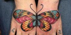 tatuaje-mariposas-old-school