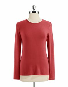Lord & Taylor Petite Long-Sleeved Top